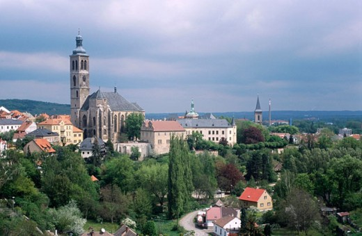 Church of St. James, general view. Kutna Hora. Czech republic. : Stock Photo