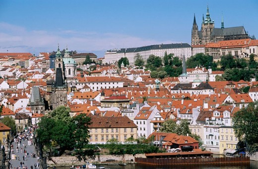 Castle district. Prague. Czech republic. : Stock Photo