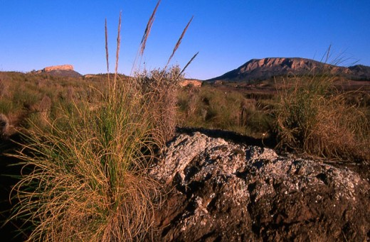 La Celia, volcanic area. Murcia. Spain : Stock Photo