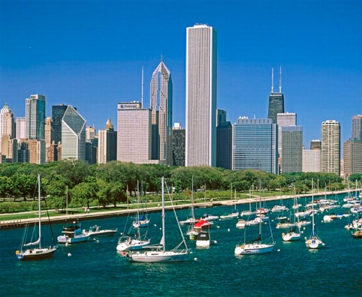 Lake Michigan, Chicago. Illinois, USA : Stock Photo