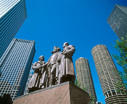 Washington Monument, Chicago. Illinois, USA : Stock Photo