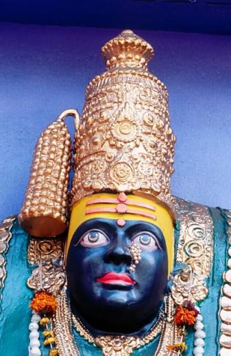 Stock Photo: 1566-0186855 Goddess of Tulajapur Bhavani Mata (Durga). Navaratri Festival. Pune. Maharashtra. India.