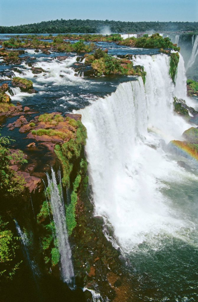 Stock Photo: 1566-0187197 Iguazú falls. Brazilian side. Paraná state. Brazil.