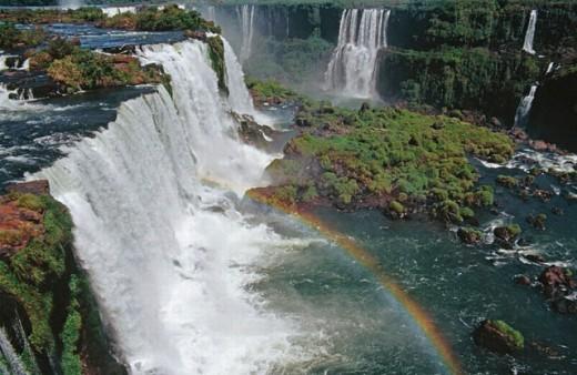 Stock Photo: 1566-0187199 Iguazú falls. Brazilian side. Paraná state. Brazil.