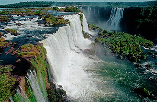 Iguazú falls. Brazilian side. Paraná state. Brazil. : Stock Photo