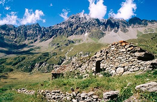 Ollomont, Aosta Valley. Italy : Stock Photo