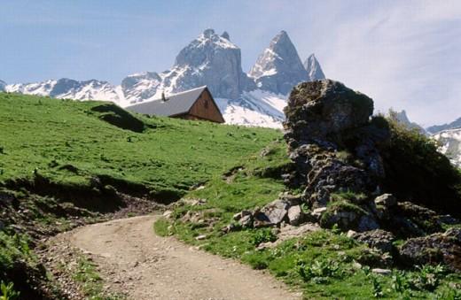 Aiguilles d´Arves. Montrond. Savoie. France. : Stock Photo