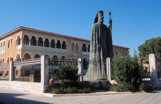 Stock Photo: 1566-0187652 Statue of Makarios III, archbishop and primate of the Orthodox Church of Cyprus. Nicosia, Cyprus