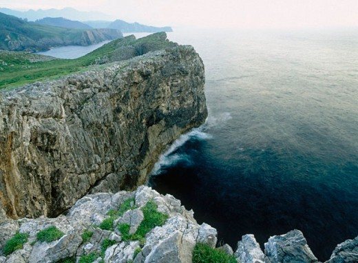 Pimiango coastal. Eastern coast. Asturias. Spain. : Stock Photo