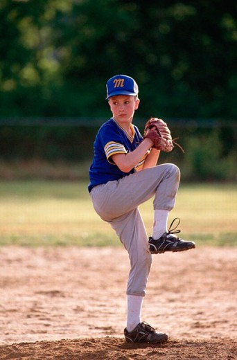 Youth league baseball : Stock Photo
