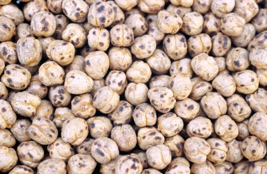 Yellow chickpeas. : Stock Photo