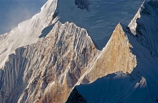 Chogolisa peak (1668 m.), Upper Baltoro glacier. Karakoram mountains, Pakistan : Stock Photo
