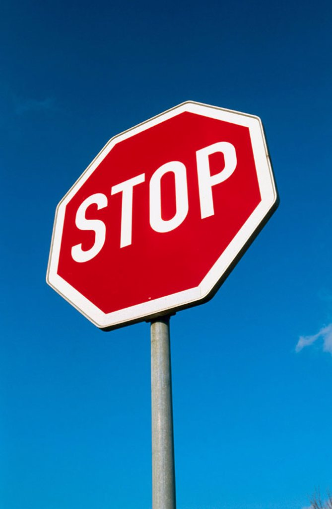Stock Photo: 1566-0192083 Stop sign