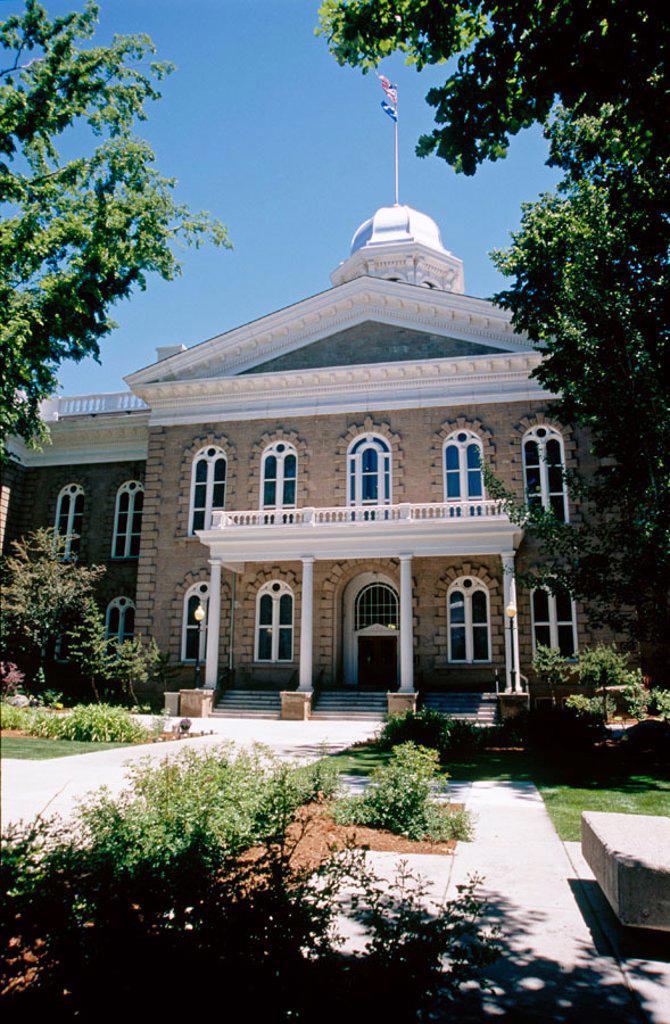 Stock Photo: 1566-0192359 Carson City. Nevada State Capitol. USA.