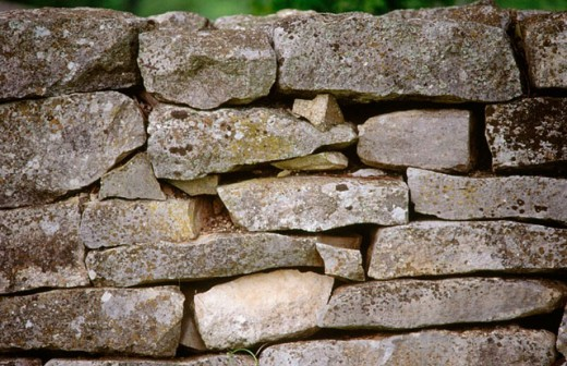 Rock wall in Kentucky. USA. : Stock Photo