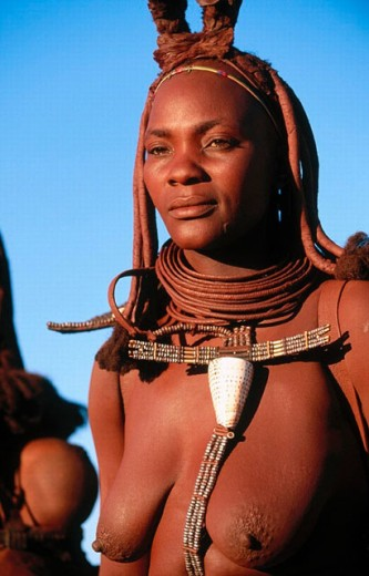 Stock Photo: 1566-0193109 Himba wife. Kaokoveld. Namibia.