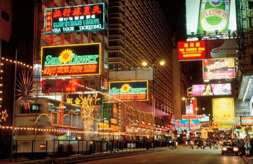 Stock Photo: 1566-0194135 Nathan Road. Kowloon. Hong Kong. China.