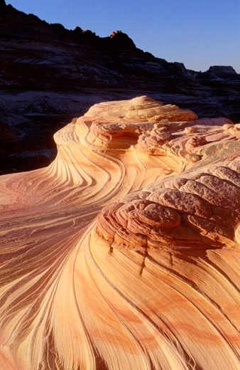 Stock Photo: 1566-0194749 The Swirl, sandstone formation. Paria Canyon Vermillion Cliffs Wilderness. North Coyote Buttes. Arizona. USA.