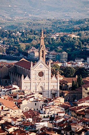 Stock Photo: 1566-0195000 Church of the Santa Croce. Florence. Tuscany, Italy