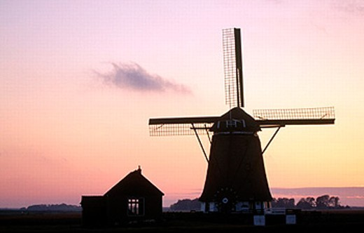 Windmill. Texel. Netherlands : Stock Photo
