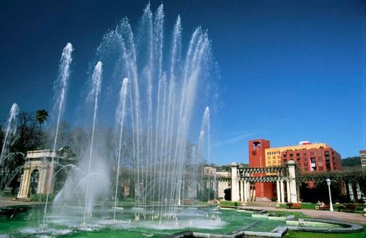 Casilda Iturrizar Park and Sheraton hotel. Bilbao. Biscay, Euskadi, Spain : Stock Photo