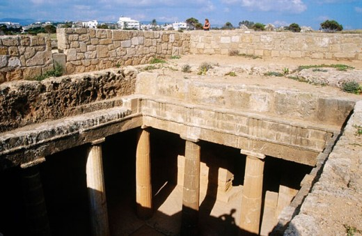 Stock Photo: 1566-0196581 Kings tombs. Pafos. Cyprus.