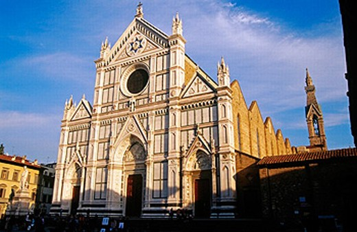 Santa Croce church. Florence. Italy. : Stock Photo