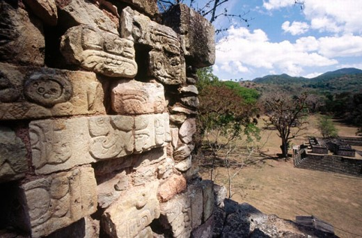 Mayan ruins of Copan. Honduras : Stock Photo