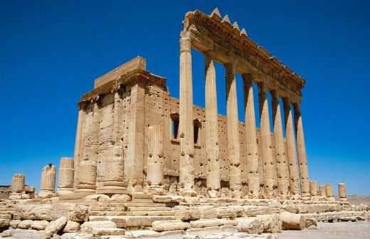 Stock Photo: 1566-0197340 Ruins of the old Greco-roman city of Palmira. Syria