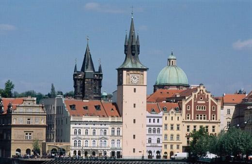 Stock Photo: 1566-0198006 Old Town skyline, Smetana Museum. Prague. Czech republic.