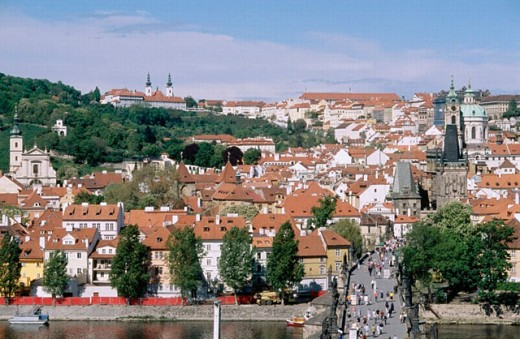 Mala Strana, Charles Bridge. Prague. Czech republic. : Stock Photo