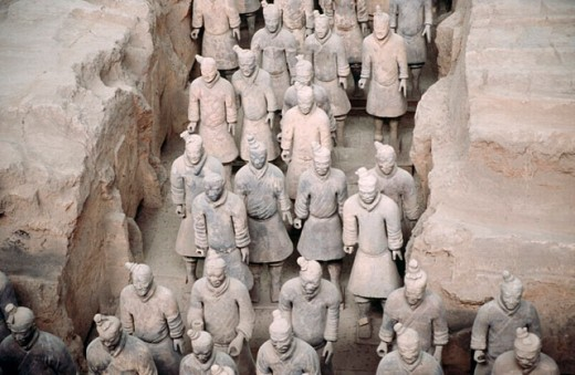 Stock Photo: 1566-0198146 Tomb of First Emperor Qinshihuang´s Terracotta warriors. Xi´an. Shaanxi, China