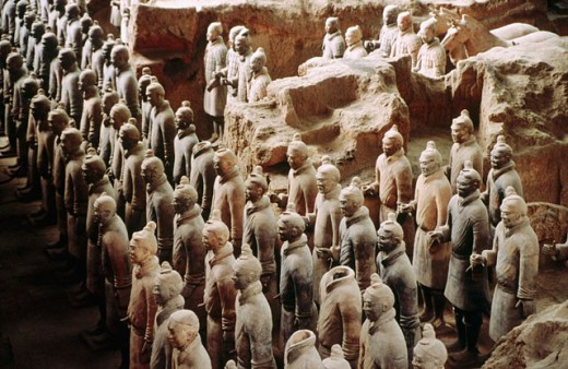Stock Photo: 1566-0198148 Tomb of First Emperor Qinshihuang´s Terracotta warriors. Xi´an. Shaanxi, China