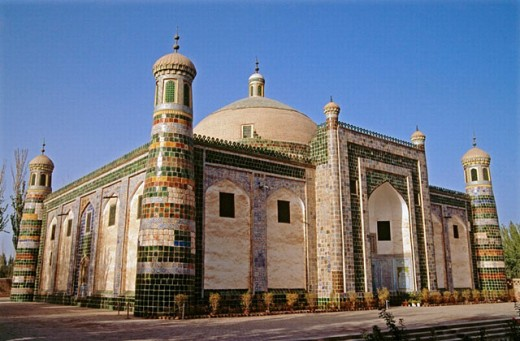 Stock Photo: 1566-0198157 17th-century ruler Abak Hoja tomb. Kashgar. Sinkiang, China
