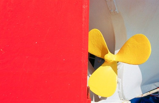 Lifeboat propeller. Cruise on the MS Sapphire. Mediterranean and Red Sea. : Stock Photo