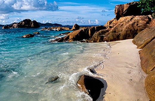 Saint-Pierre islet. Praslin island. Seychelles : Stock Photo