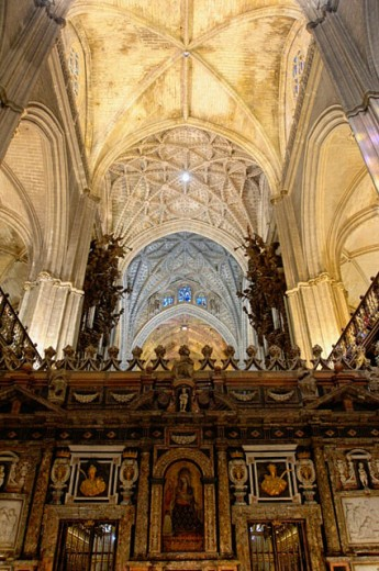 Stock Photo: 1566-0199508 The cathedral. City of Sevilla. Andalucia. Spain