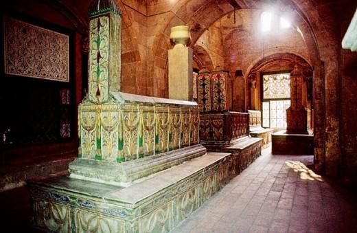 Grave of the Mameluks, tombs of Pacha Mehemet Ali family. The deads city. Cairo. Egypt : Stock Photo