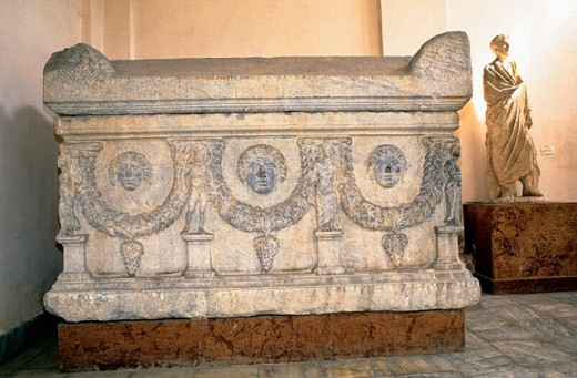 Stock Photo: 1566-0199784 Sarcophagus. The greco-roman museum. Alexandria. Egypt