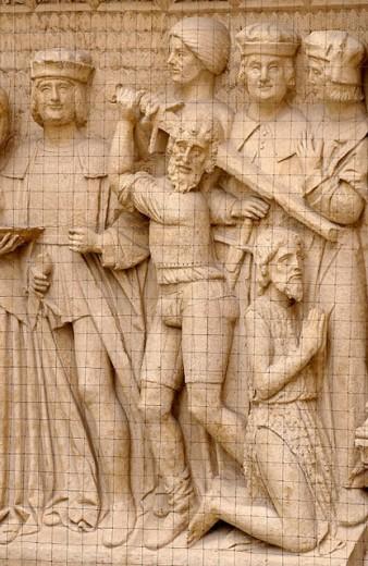 Portada de la Pellejería (Pellejería door) Cathedral. Burgos. Castilla-León. Spain : Stock Photo