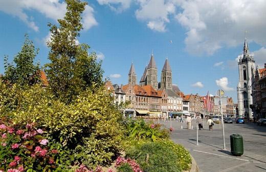 Stock Photo: 1566-0200915 Grand Place. Tournai. Hainaut, Belgium
