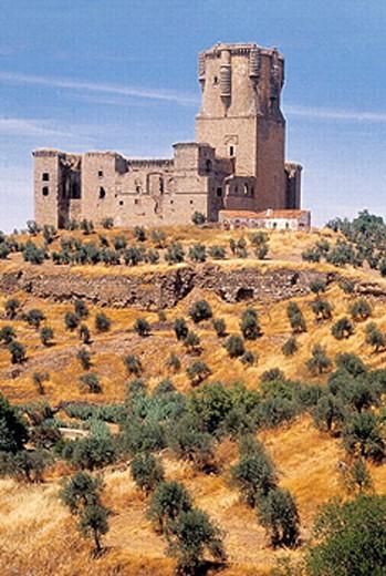 Castle built 16th century. Belalcázar. Córdoba province, Spain : Stock Photo