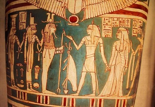 Sarcophagus at Egyptian Museum. Cairo, Egypt : Stock Photo