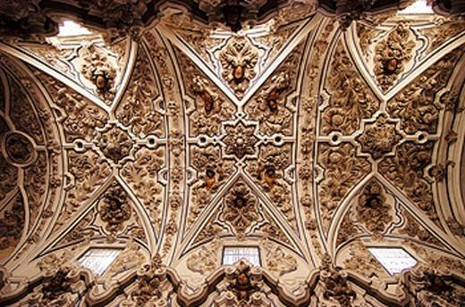 Stock Photo: 1566-0201400 Baroque vaults in church of the Aurora. Priego de Córdoba. Córdoba province, Spain