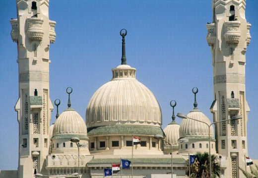 Egypt. Mosque at Port Fouad in Port Said on the Suez Canal : Stock Photo