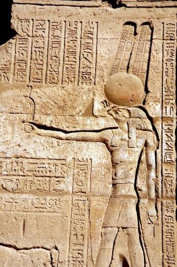 Temple of Montu. Near Luxor. Egypt : Stock Photo