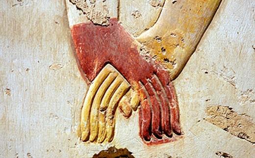 Stock Photo: 1566-0201697 Cartridges. Abydos Temple. Egypt