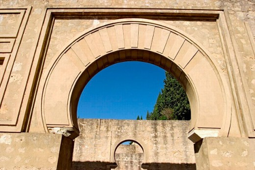 Ruins of Medina Azahara, palace built by caliph Abd al-Rahman III. Córdoba province. Andalusia, Spain : Stock Photo