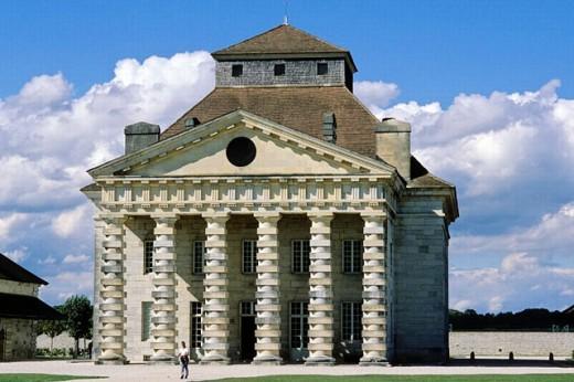 The Director´s Pavilion, Royal Saltworks. Arc-et-Senans. France : Stock Photo