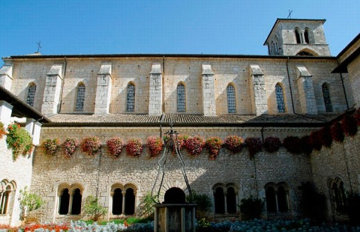 Casamari abbey, Veroli. Lazio, Italy : Stock Photo